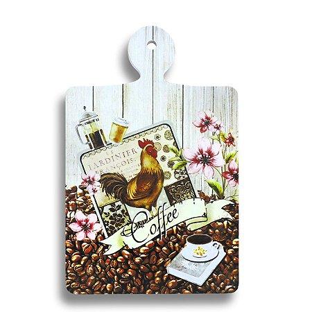 DESCANSO DE PANELA EM MADEIRA COFFEE MANHA 25X16 CM