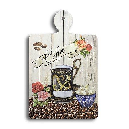 DESCANSO DE PANELA EM MADEIRA COFFEE 25X16 CM