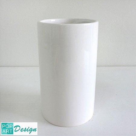CACHEPÔ CERÂMICA BASICS TUBE BRANCO 10x10x17cm