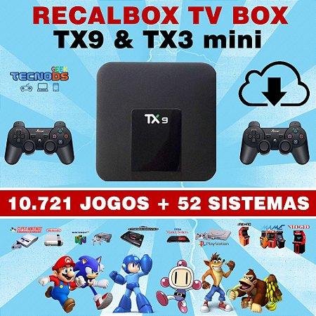 RECALBOX 32GB 2020 EXCLUSIVO PARA TVBOX TX9 & TX3 mini - 52 SISTEMAS 15 MIL JOGOS - IMAGEM PARA DOWNLOAD VIA TORRENT