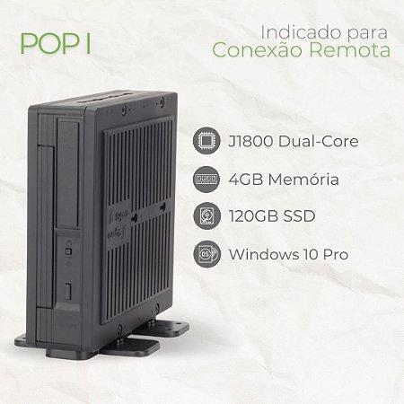 Thin Client - POP I | Intel Celeron J1800 Dual Core | até 4GB Memória |até SSD 120GB | Windows 10 Pro - LTSC - Linux