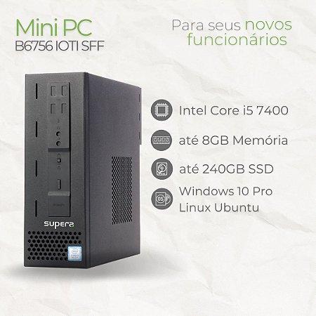 Mini Computador B6756 IOTI SFF, Intel Core i5 7400, até 8GB, até 240GB, Linux Ubuntu ou Windows 10 Pro