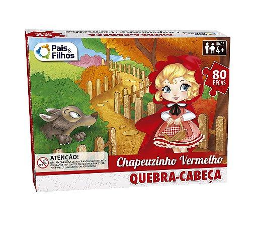 QUEBRA-CABEÇA CARTONADO CHAPEUZINHO VERMELHO 80 PEÇAS