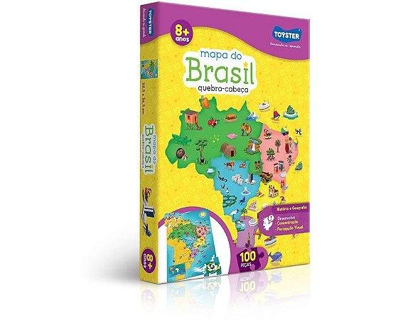 QUEBRA-CABEÇA MAPA BRASIL 100 PEÇAS