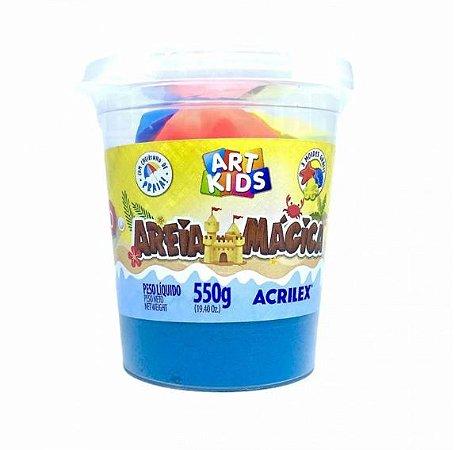 MASSA AREIA MÁGICA 550G AZUL ACRILEX