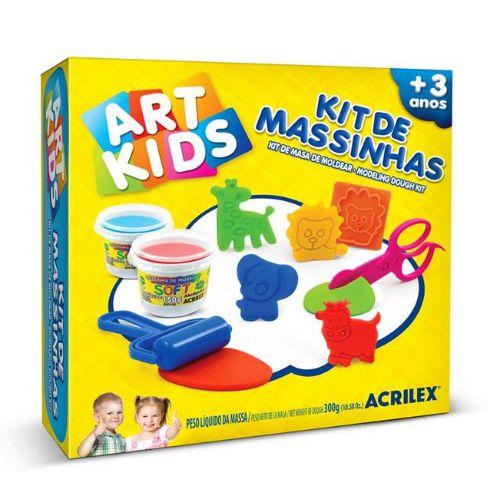 MASSINHA PARA MODELAR ART KIDS 7 150G 7 ACESSORIOS ACRILEX