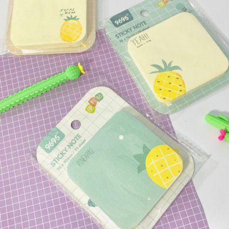 BLOCO STICKY NOTES ABACAXI (UNIDADE)