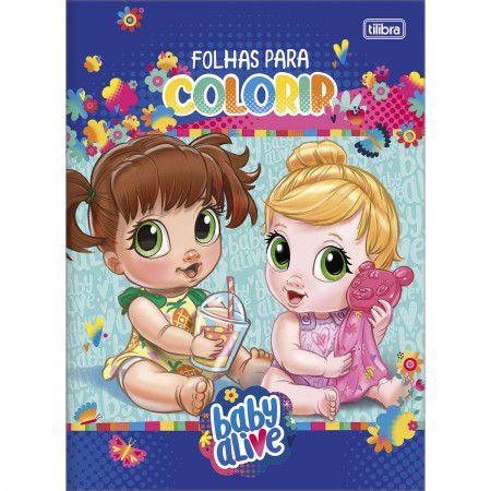 LIVRO INFANTIL PARA COLORIR BABY ALIVE TILIBRA