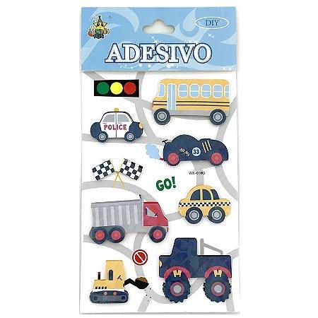 CARTELA DE ADESIVOS 3D CARRO