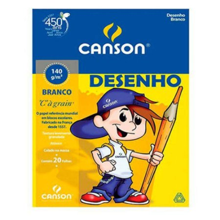 BLOCO DESENHO A4 140g 20FLS CANSON