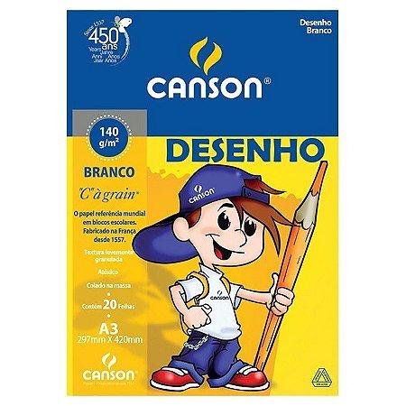 BLOCO DESENHO A3 140G 20FLS CANSON