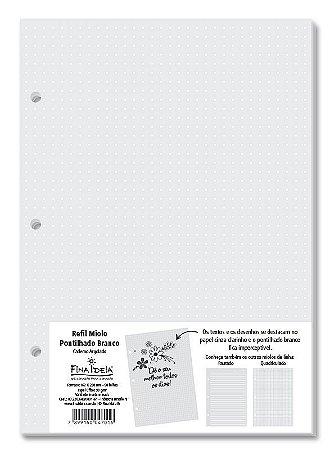 REFIL MIOLO PONTILHADO BRANCO 4701 FINA IDEIA