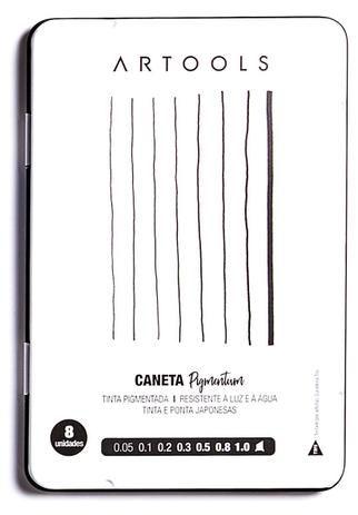 CANETA NANQUIM PIGMENTUM ARTOOLS ESTOJO C/8 PONTAS