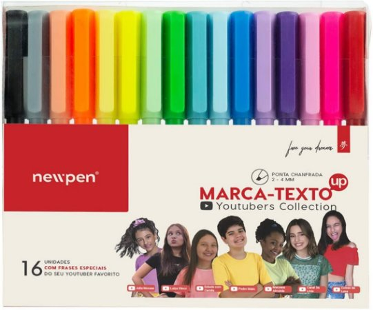 CANETA MARCA TEXTO UP YOUTUBERS COLLECTION C/16 NEWPEN