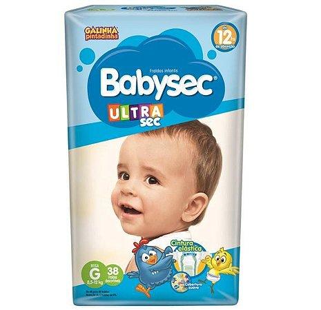 Fralda Babysec Ultrasec Mega G 38 Unidades Promoção