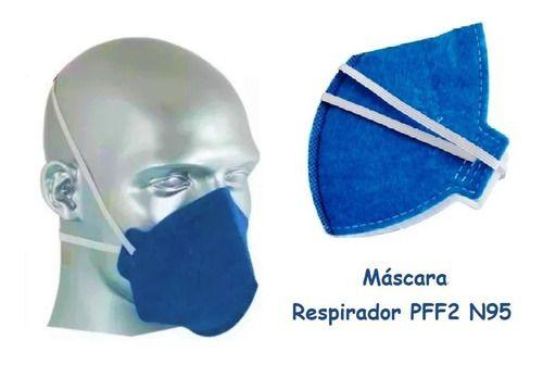 Máscara Respirador Pff2 N95 Original Proteção Pronta Entrega