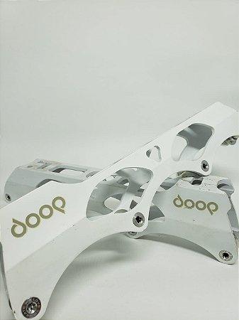 BASE POWERSLIDE DOOP 4X80MM - BRANCA