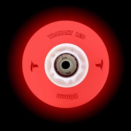 RODA TRAXART LED 80MM - 4 UND