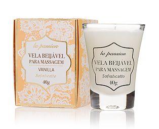 Vela beijável massagem Vanilla