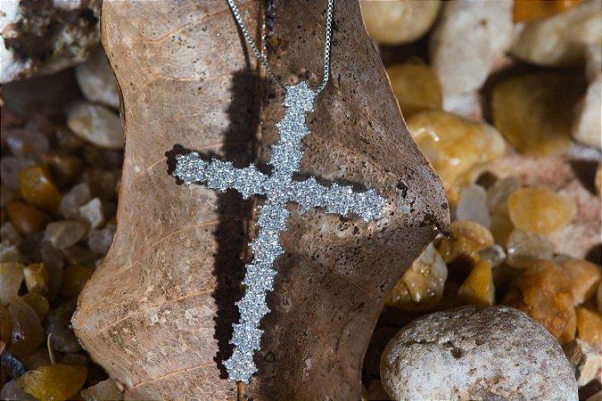 Cruz Zircônias Brancas