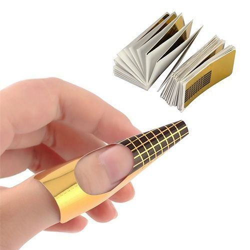 Molde de papel para alongamento de unhas