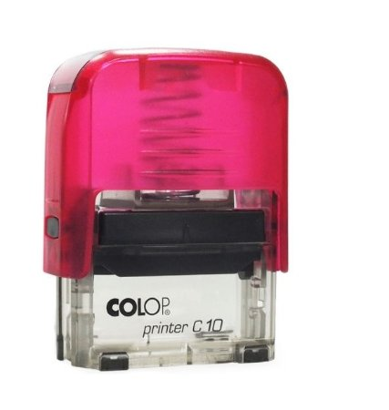 Carimbo Automático Printer C10 - Rosa Transparente