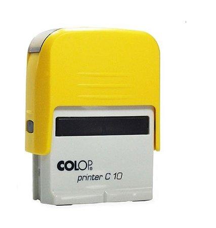 Carimbo Automático Printer C10 - Amarelo