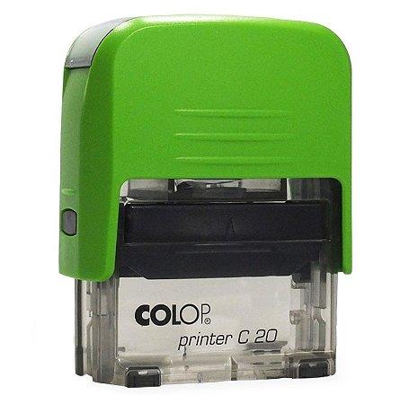 Carimbo Automático Printer C20 - Verde Kiwi
