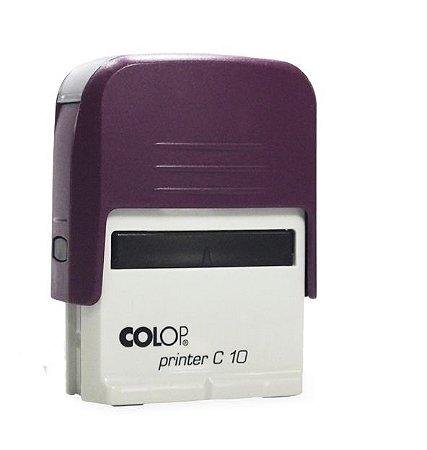 Carimbo Automático Printer C10 - Roxo