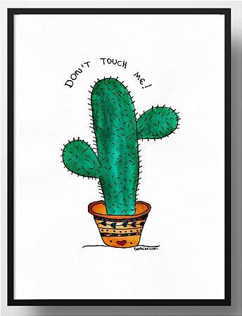 Quadro decorativo Cacto Don't touch me!