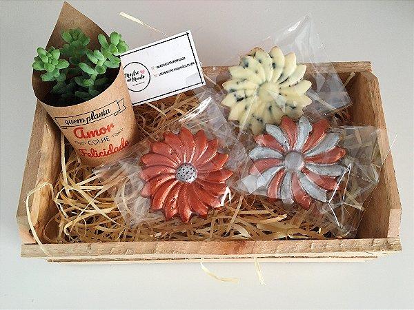 Gift-box Flores Suculentas Gourmet