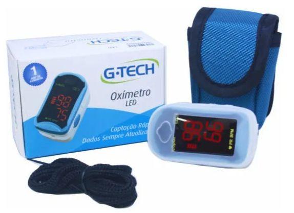 Oxímetro de Pulso Portátil de Dedo LED - G-Tech