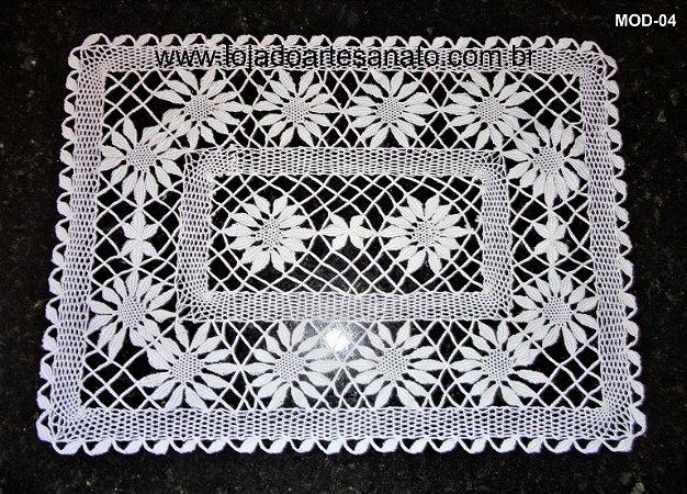 Toalha para bandeja em Renda de Bilro