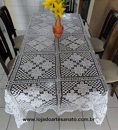 Toalha de Mesa em Renda Filé - Retangular 5,00 x 1,80
