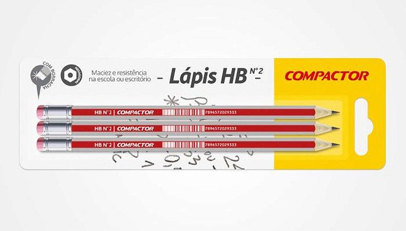 Lápis HB - Embalagem com 3 unidades