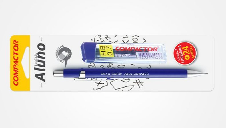 Lapiseira Aluno 0.7mm + Caixa Grafite c/24 minas