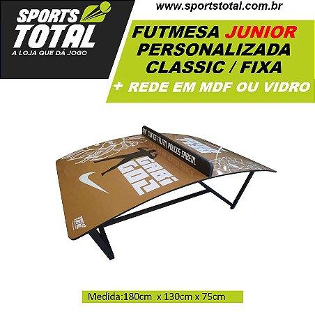 Futmesa JUNIOR Classic Fixa Personalizada + Rede em Mdf ou Vidro (Altinha / Teqball)