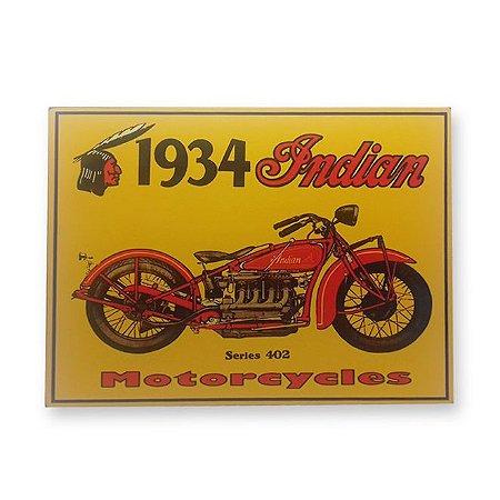Placa Decorativa em MDF - 1934 Indian - 18x23 cm