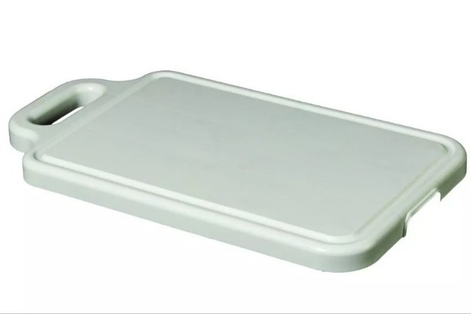 Tabua De Plastico Para Carne Reta Super Resistente