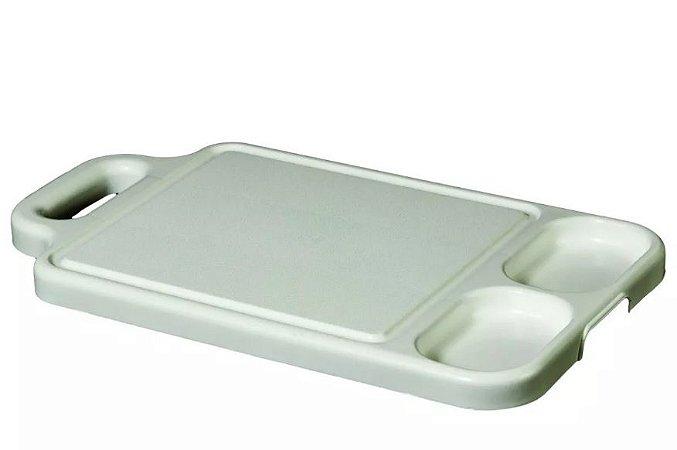 Tabua De Plastico Para Carne Com 2 Divisórias Super Resistente