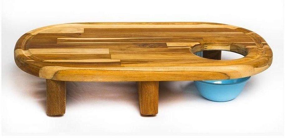 Tábua artesanal para Churrasco Suspensa 50cm