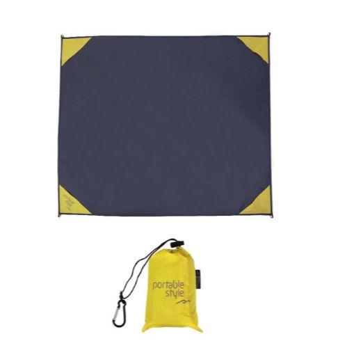 Esteira de praia / Manta Multifuncional para camping impermeável - Amarelo