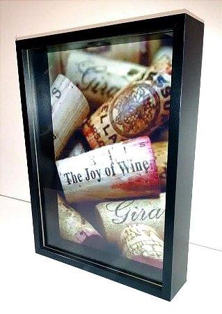 Quadro decorativo p/ Rolhas de Vinho - 31x41cm