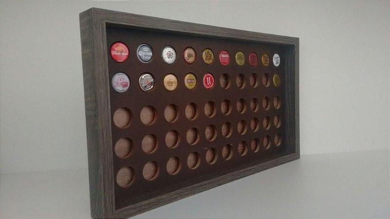 Quadro expositor para tampinhas de cerveja 45,5 x 26 cm (para coleção)