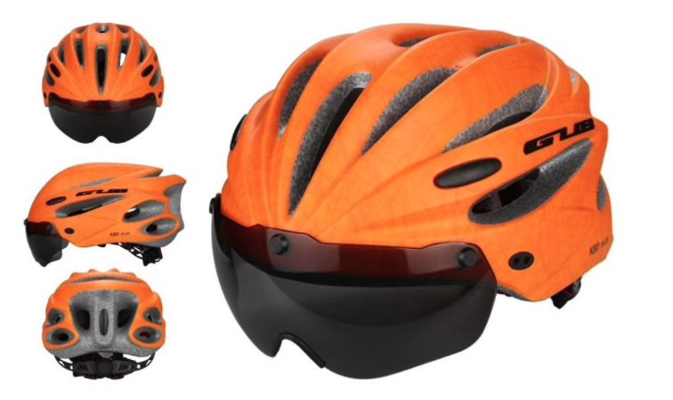 Capacete p/ Ciclismo com Lente Magnética Triathlon Ref.172