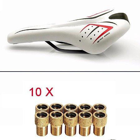 Selim Vertu p/ Ciclismo Speed, MTB, Triathlon + Brinde 10 Adaptadores Ref.190