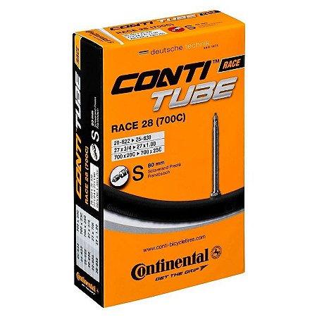 Câmara de Ar Continental 700x18/25c com bico 80mm Ref.227