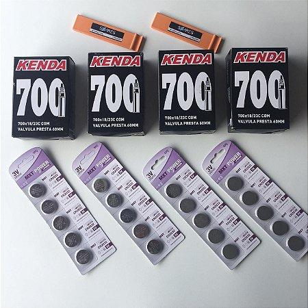 Combo 4 câmaras + 20 baterias CR2032 + 2 espátulas Ref.014