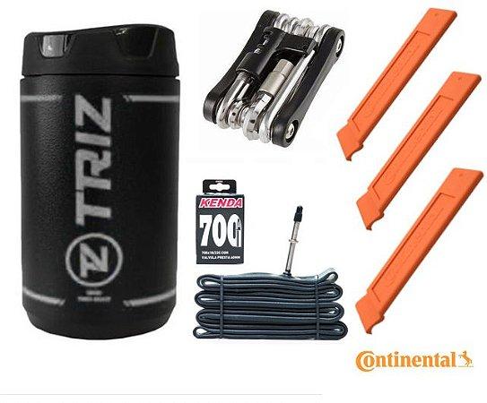 Kit porta ferramentas, chave 12 funções, câmara e espátulas Ref.161