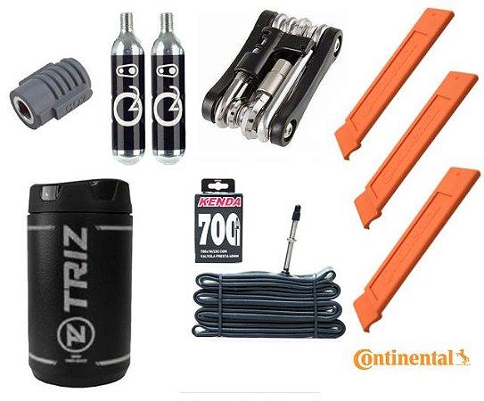 Kit CO2, porta ferramentas, chave 12 funções, câmara, espátulas Ref.168